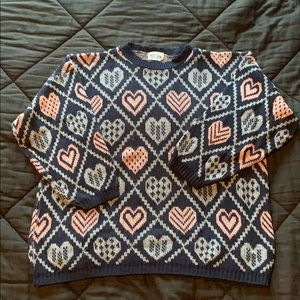Vintage Heart Oversized Sweater
